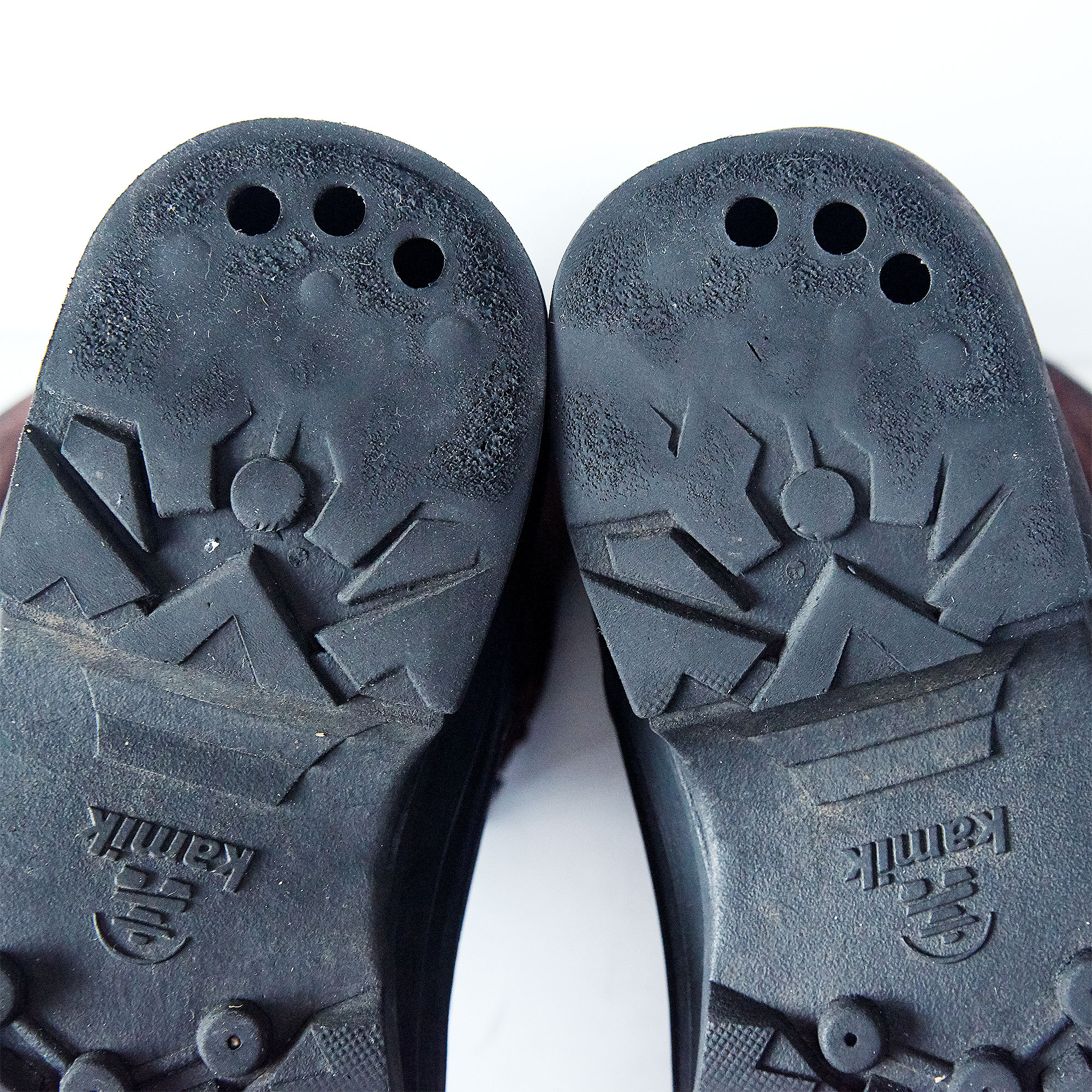 Nation Plus boot soles ~ heel ~ after three seasons